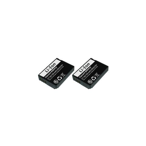 Replacement Panasonic DMC-ZS19 Li-ion Camera Battery - 700mAh / 3.7v (2 Pack)