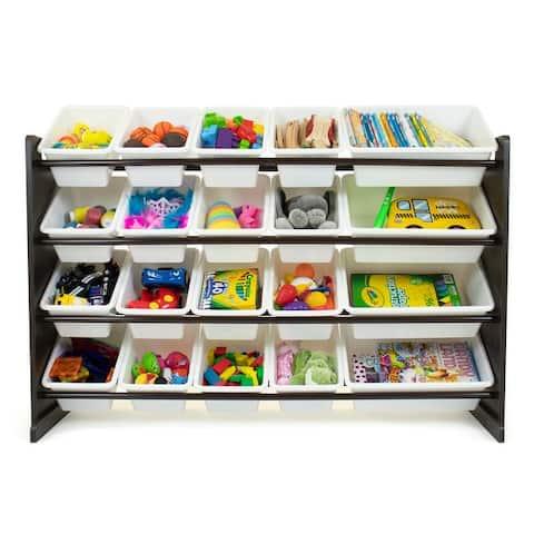 Humble Crew Espresso XL Toy Storage Organizer with 20 Storage Bins - Toddler, Pre-school