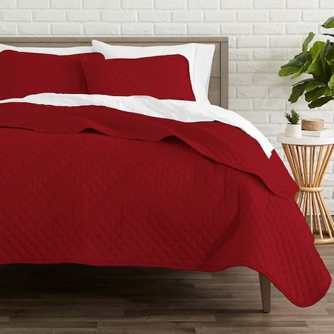 Bare Home Lightweight Coverlet Bedspread & Microfiber Sheet Set Bundle