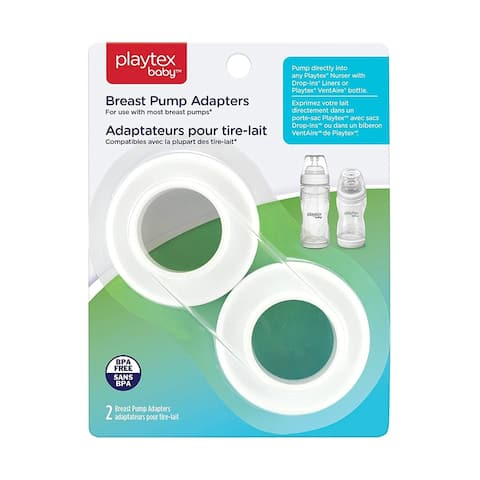 Playtex Baby Breast Pump Adapters for Use with Most Breast Pumps, 2 count