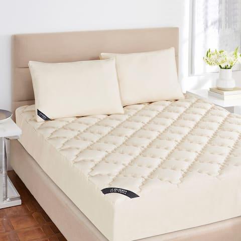 Five Queens Court Organic Cotton Mattress Pad - Off-White