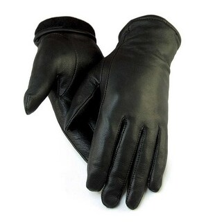 "Northstar Women's Black Full Deerskin Dress Glove Fleece Lined 3"" Cuff 411B"