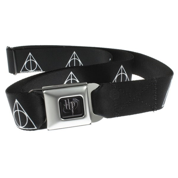 Harry Potter Seatbelt Belt - Deathly Hallows Symbol-Holds Pants Up