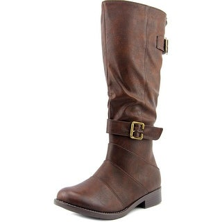 2 Lips Too Too Jumpin Round Toe Synthetic Knee High Boot
