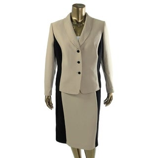 Tahari ASL Womens Plus Chris 2PC Two Tone Skirt Suit - 20W