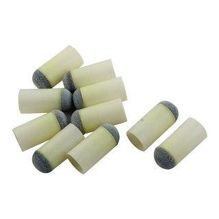 Plastic Pool Snooker Billiard Cue Stick Slip Push on Tips Gray 13mm Dia 10pcs