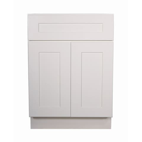 """Design House 561357 Brookings 21"""" Wide x 34-1/2"""" High Double Door Base Cabinet with Single Drawer - White"""