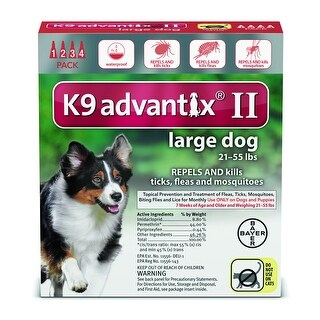 K9 Advantix II 21-55 Lbs. 4 Pack