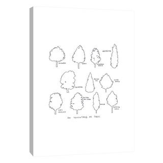 "PTM Images 9-105613  PTM Canvas Collection 10"" x 8"" - ""Inventory of Trees"" Giclee Trees Art Print on Canvas"