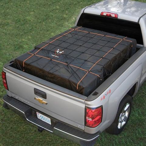 Truck Bed Cargo Net with Built-In Tarp