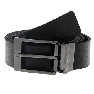 Versace ED8YSBF04 EMI8 Black Mens Belt - 110