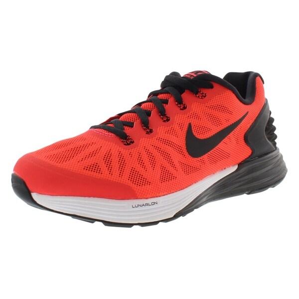 Shop Nike Lunarglide 6 (GS) Running Girl s Shoes - 4 Big Kid M ... 325874d9c42f