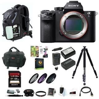 Sony Alpha a7SII Mirrorless Digital Camera (Body Only) w/ 128GB SD Card & Photo/SLR Sling Backpack|https://ak1.ostkcdn.com/images/products/is/images/direct/d5bebec28b0110a91b1d520f4aa37b74fc805573/Sony-Alpha-a7SII-Mirrorless-Digital-Camera-%28Body-Only%29-w--128GB-SD-Card-%26-Photo-SLR-Sling-Backpack.jpg?impolicy=medium