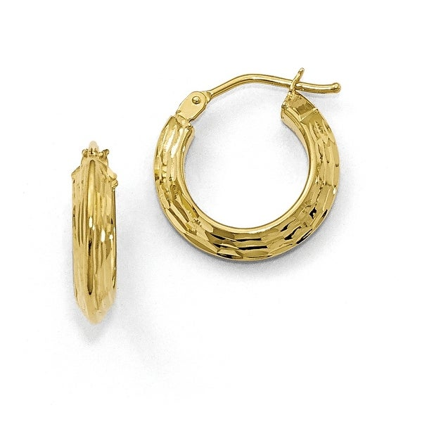 Italian 10k Gold Polished Hoop Earrings