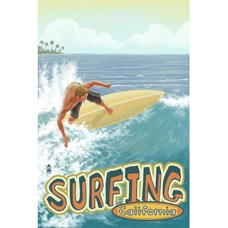 Surfing CA - LP Artwork (Acrylic Wall Clock)