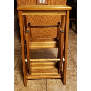 Shop Costway Wood Step Stool Folding 3 Tier Ladder Chair
