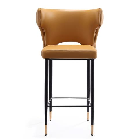 Ceets Mid-Century Modern Leather Upholstered Holguin Counter Stool
