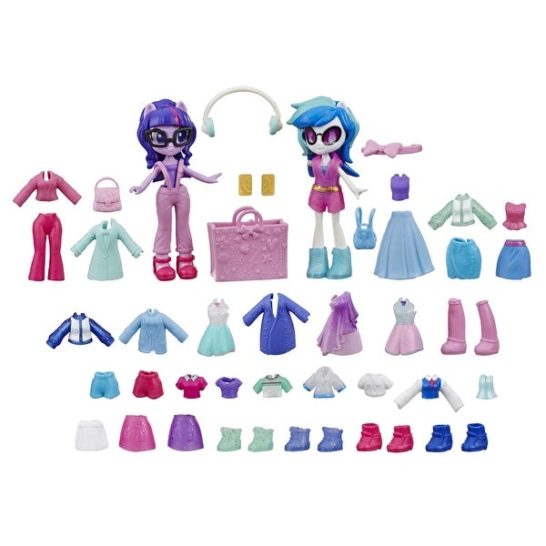 My Little Pony Equestria Girls Fashion Squad Twilight Sparkle And Dj Pon-3 Mini Doll Set Toy, Over 40 Pieces. Opens flyout.