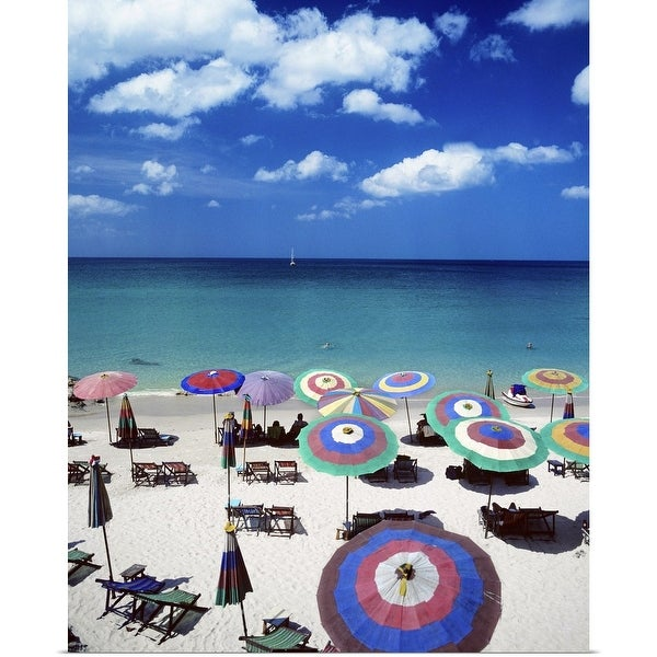 """Beach resort"" Poster Print"