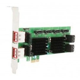 Syba PCI-Express 2.0 x1/ 8-Port SATA 6G Non-Raid Card Jumper Setting for External Port Marvell 88SE9215+88SM9705 Chipset