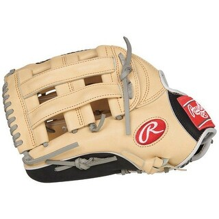 """Rawlings Heart of the Hide 12.75"""" Outfield Finger-Shift Glove (Tan/Left Hand)"""