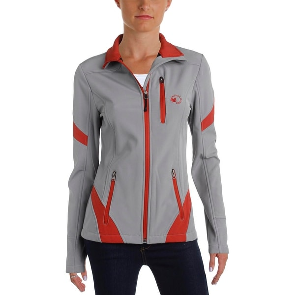 Halifax Traders Womens Softshell Jacket Contrast Trim Fleece Lined