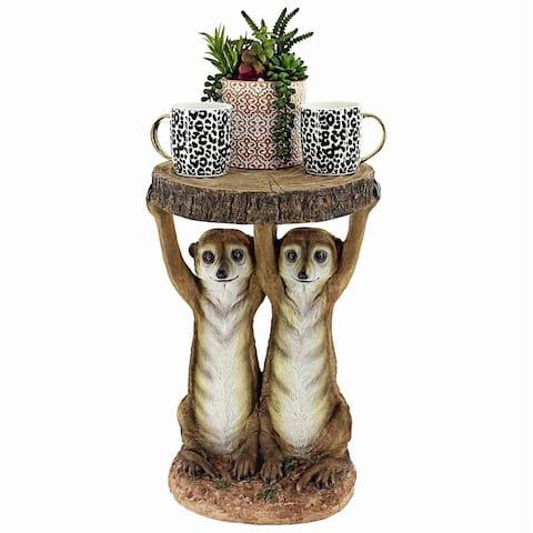 Design Toscano Kalahari Meerkat Maitre ds Sculptural Side Table
