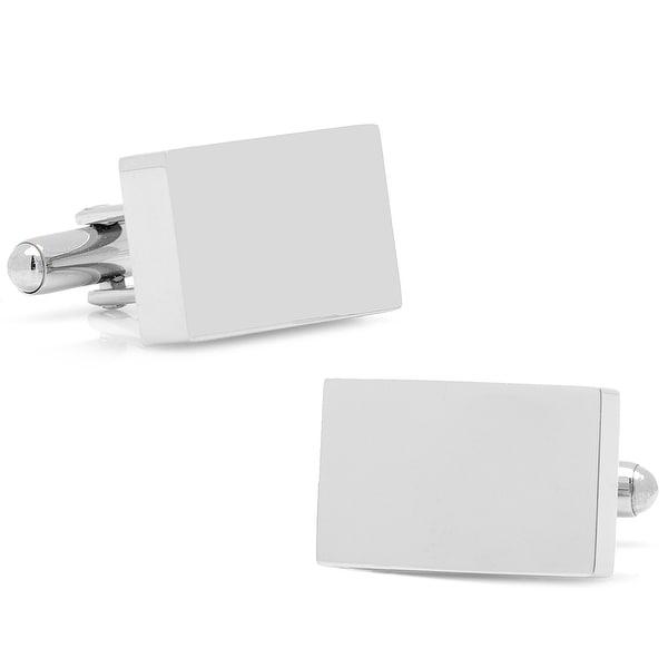 Stainless Steel Silver Block Cufflinks