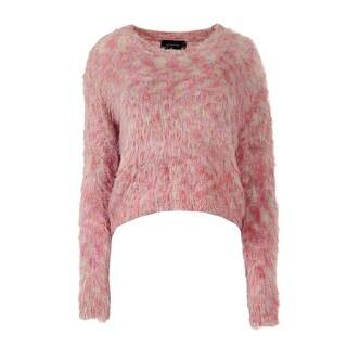 Minkpink Womens Fairy Floss Crochet Pastel Pullover Sweater - S