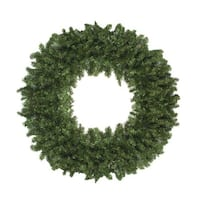 Commercial Size 12' Canadian Pine Artificial Christmas Wreath - Unlit - green