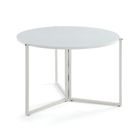 Somette Round Foldaway Dining Table