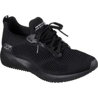 Skechers Women's BOBS Squad Photo Frame Sneaker Black/Black