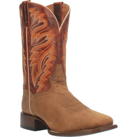 Dan Post Western Boots Mens Avery Leather Square Toe Tan Brown
