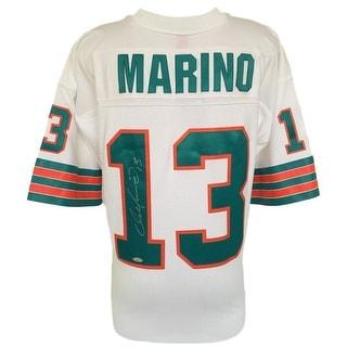 Dan Marino Signed Miami Dolphins White Replica Mitchell & Ness Jersey TriStar