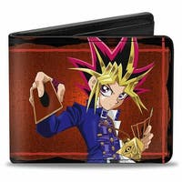 Yugi Pose + Yu Gi Oh! Hieroglyphics Reds Bi Fold Wallet - One Size Fits most