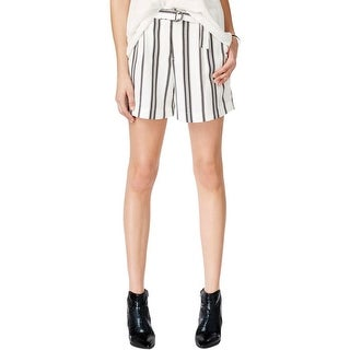 Sanctuary Womens Casual Shorts Striped Belted