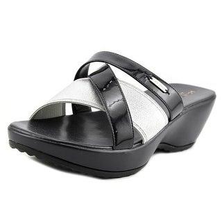 Cole Haan Margate Slide II Women Open Toe Synthetic Blue Slides Sandal