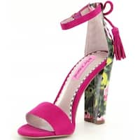 Betsey Johnson Womens Rallo Open Toe Special Occasion Ankle Strap Sandals