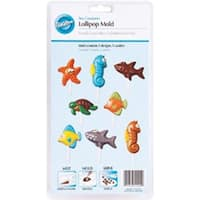 Sea Creatures 5 Cavity (5 Designs) - Lollipop Mold