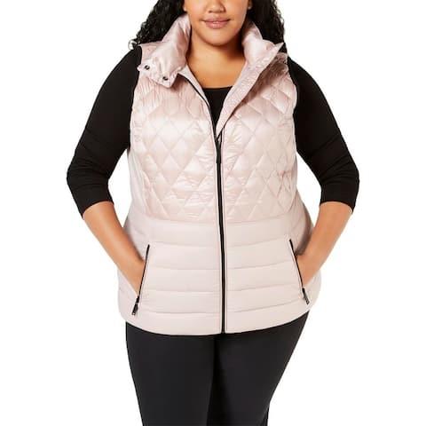 Calvin Klein Performance Womens Plus Outerwear Vest Fall/Winter Down Fill