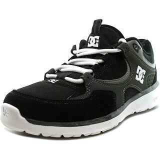 DC Shoes Kalis Lite Youth Round Toe Leather Black Skate Shoe (Option: 2)