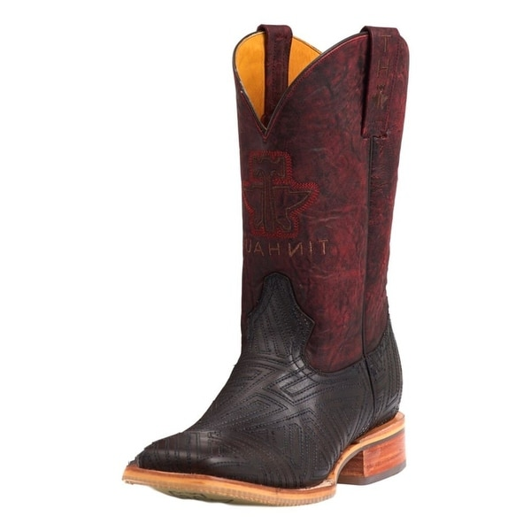 """Tin Haul Western Boots Mens Leather 11"""" Gray"""