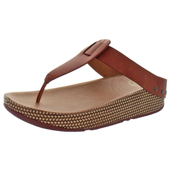 aff511d8271544 Shop FitFlop Women s Ibiza Leather T Strap Sandals Shoes - Free ...
