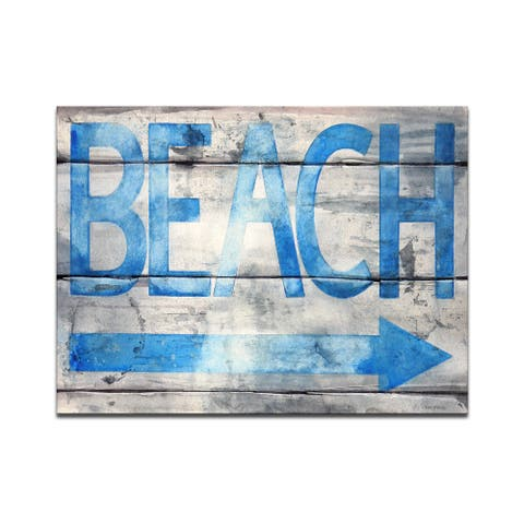 'Beach that Way' Wrapped Canvas Wall Art by Norman Wyatt Jr.