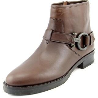 Coach Eldridge Women Round Toe Leather Ankle Boot