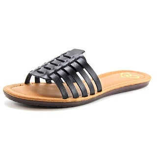 Madeline Danny Open Toe Leather Slides Sandal