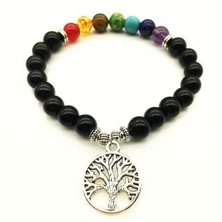 Link to 7 Chakra Bracelet Tree of Life Bead Bracelet Similar Items in Aromatherapy & Massage