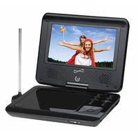 """Supersonic 7"""" Widescreen Portable DVD Player with 270 Degree Swivel Display"""