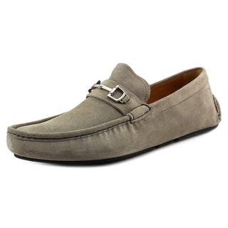 Gucci Queen Men Moc Toe Suede Gray Loafer