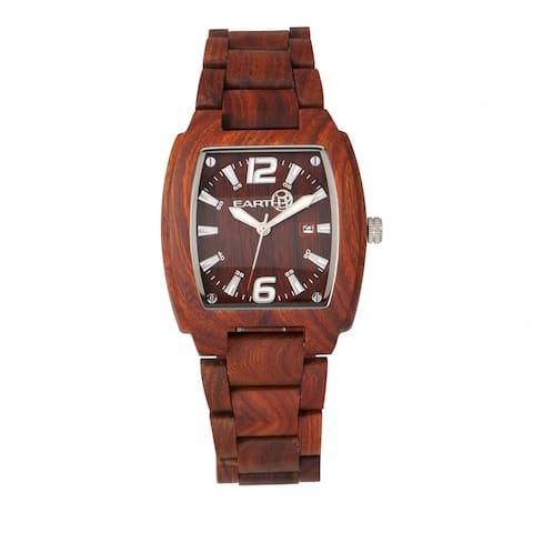 Earth Wood Sagano Unisex Quartz Watch, Wood Band, Luminous Hands